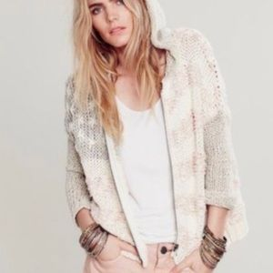 Free People Hooded Flag Sweater